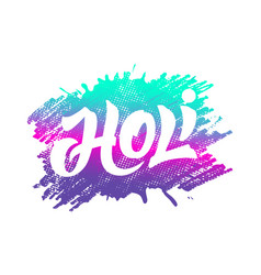 badge with lettering for holi festival vector image