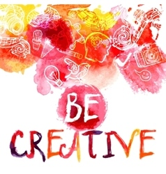 Creativity Watercolor Concept vector image