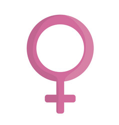 female gender iocn vector image vector image