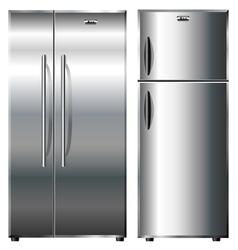 Metallic refrigerators vector image vector image