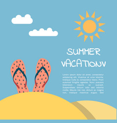 summer vacation beach vector image vector image