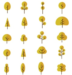 Tree Collection 2 vector image vector image