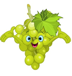 cartoon grape character vector image vector image