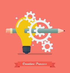 creative process idea concept vector image