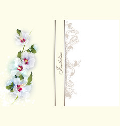invitation card with delicate flowers vector image