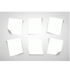 white paper notes post it note vector image