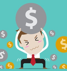 Businessman with crisis vector