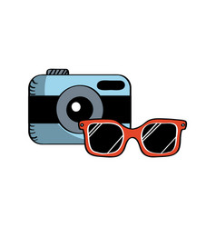 camera and glasses vector image