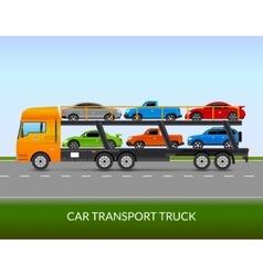 Car transport truck vector