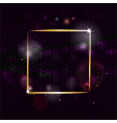 Glowing border background vector image