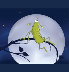 green cockroach vector image