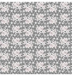 lace with flower on net vector image vector image