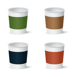 Set of paper coffee cups vector image
