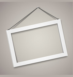 3d picture frame design for a4 image or vector image