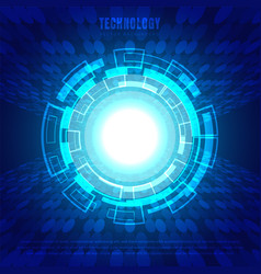 abstract circle digital business technology blue vector image