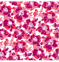 Active shabpink floral seamless pattern vector