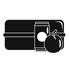 Apple cola box icon simple style vector