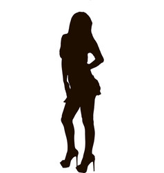Black silhouette of woman vector