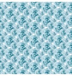 Blue Rose pattern background vector image