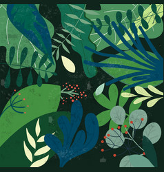 Botanical tropical green leave patterngarden vector