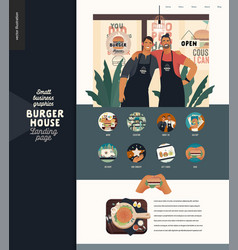 burger house - small business graphics - landing vector image