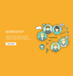 Business workshop banner vector
