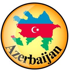 button Azerbaijan vector image