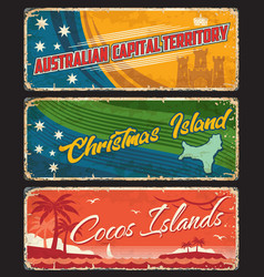 Capital territory christmas and cocos islands vector