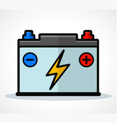 Car battery icon design vector