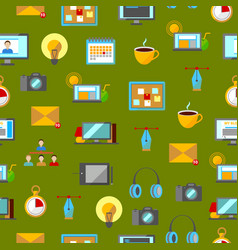 cartoon freelance signs seamless pattern vector image