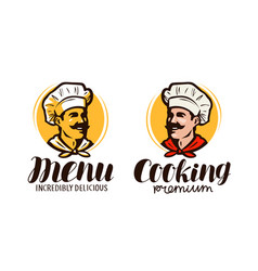 chef logo or symbol meal concept element for vector image