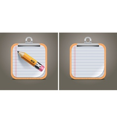 clipboard square icon vector image