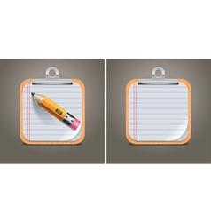 Clipboard square icon vector
