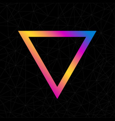 colorful abstract triangle logo isolated on black vector image