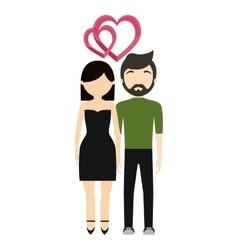Couple in love fashionable modern vector
