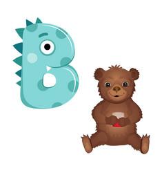 Cute childish cartoon english alphabet vector