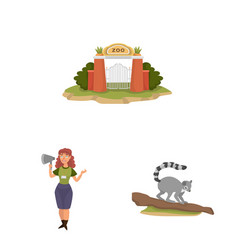 Design zoo and park logo collection of vector