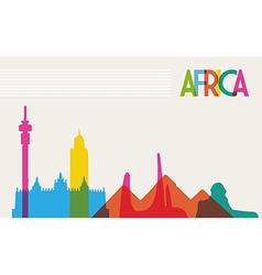 Diversity monuments africa famous landmark vector