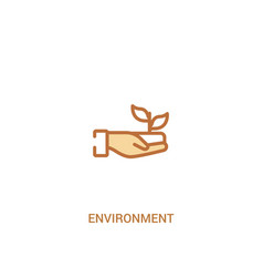 Environment concept 2 colored icon simple line vector