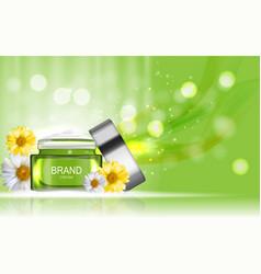 Face cream bottle tube design cosmetics produc vector