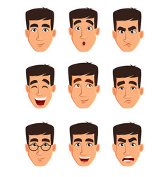 Face expressions of a business man different male vector