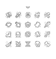 Fantasy game well-crafted pixel perfect vector