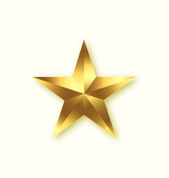 gold star shiny star design element vector image