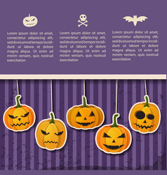 greeting halloween party poster vector image