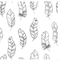 hand-drawn seamless pattern with sketch style bird vector image