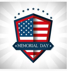 Happy memorial day shield vector