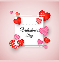 happy valentines day greeting card holiday banner vector image