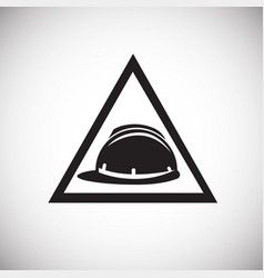 helmet safety sign on white background vector image