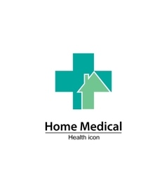 Home Medical symbol Health icon Nursing home vector image