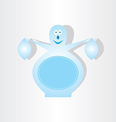 Ice snowman blue design element vector